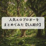 人気エロブロガーをまとめてみた【5人紹介】